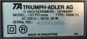 ADLER 1121PD nova